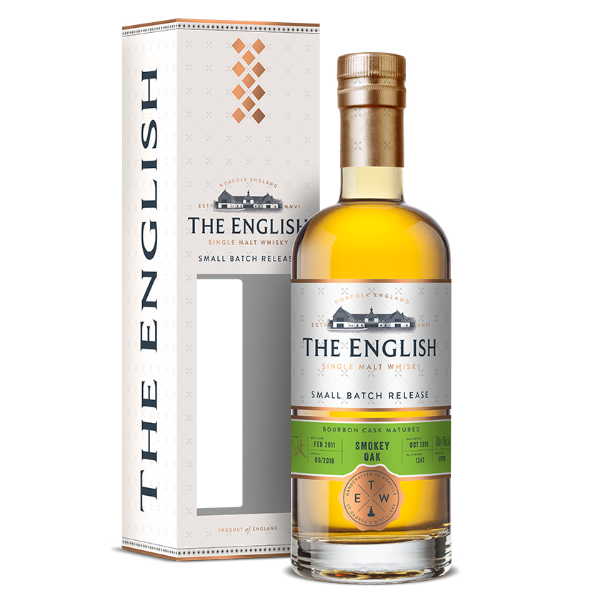 Односолодовый виски The English Small Batch Release Smokey Oak Bourbon Cask Matured (gift box)
